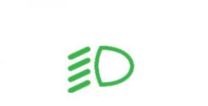 Światła mijania - symbol nadesce rozdzielczej samochodu