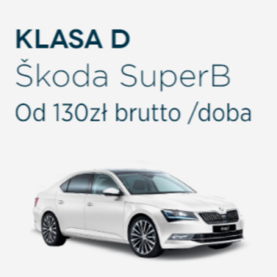 Klasa D - Skoda Superb