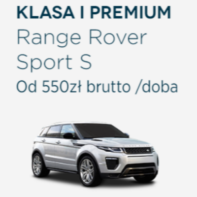 Klasa I Premium 2 - Range Rover