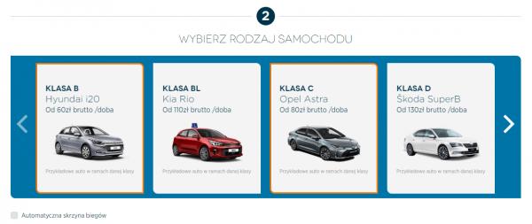 Wybierz model auta