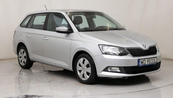 Skoda Fabia III silver combi car front