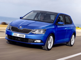 Skoda Fabia III blue hatchback car blue