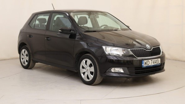 Skoda Fabia III black hatchback car front