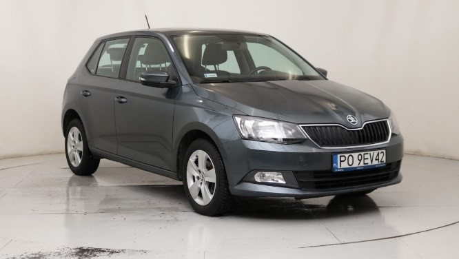 Skoda Fabia III grey hatchback car front