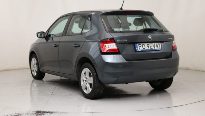 Skoda Fabia III hatchback car rear grey