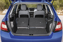 Skoda Fabia III blue trunk car