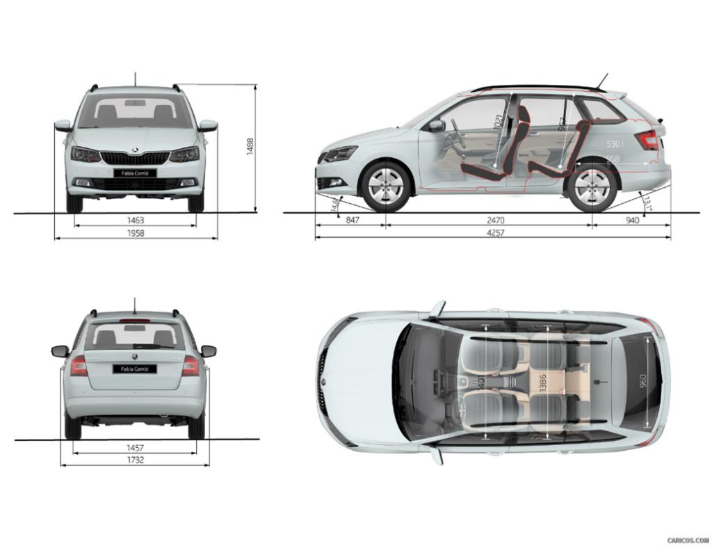 Skoda Fabia III plans combi car