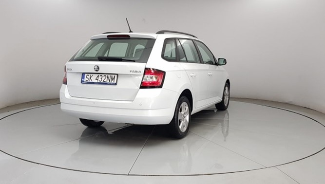 Skoda Fabia III white combi car rear